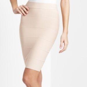 BCBG Alexa Nude Bandage Skirt